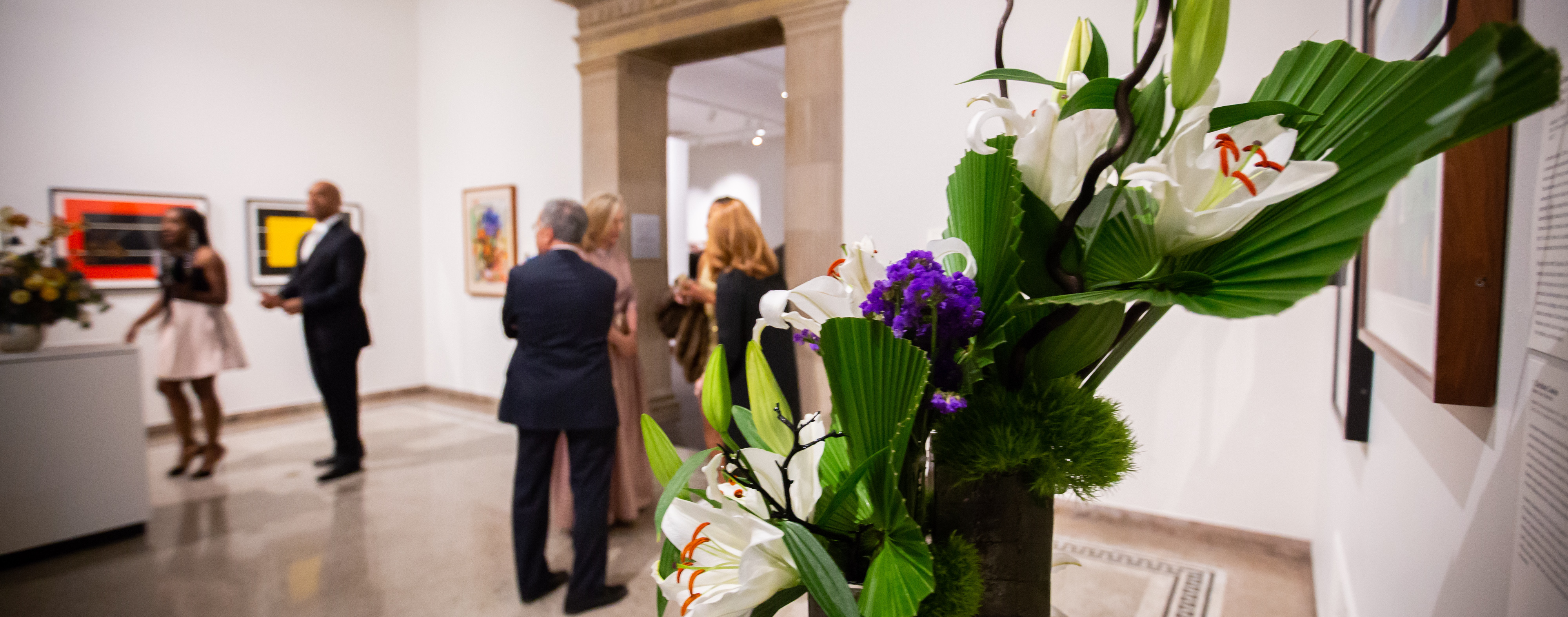 Visitors in the galleries during art in bloom exhibition 2018