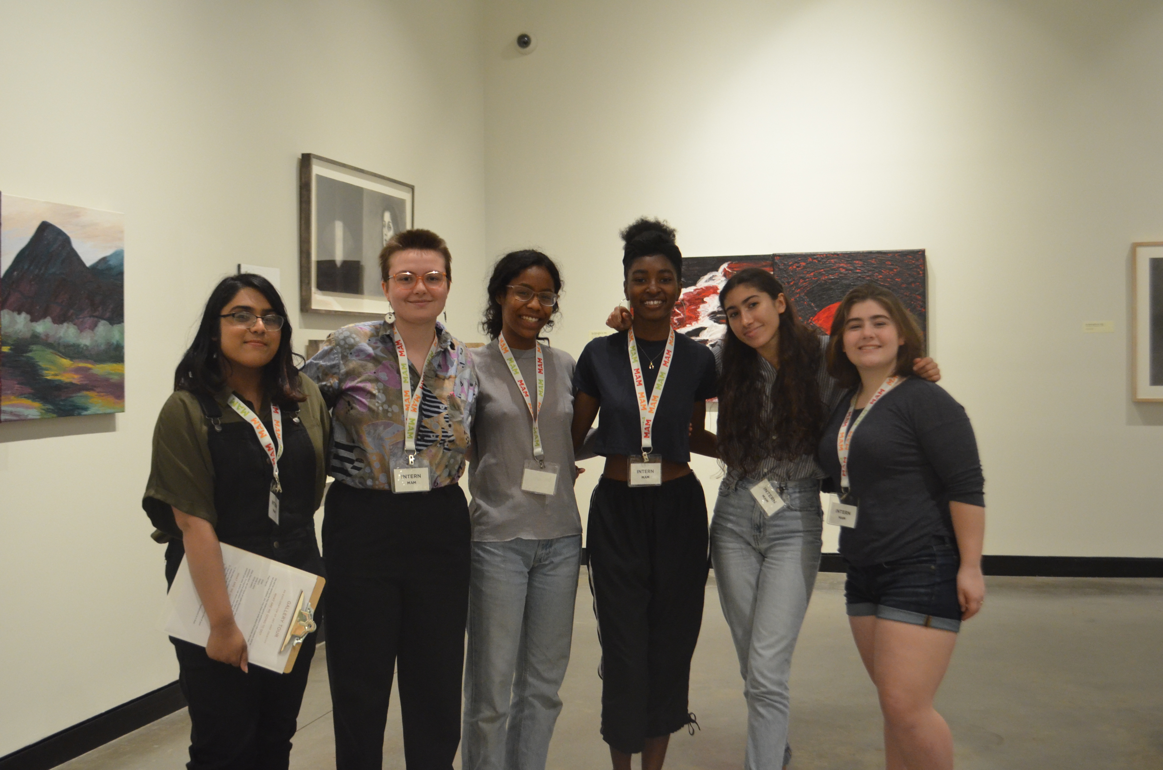 MAM interns i the galleries during teen night