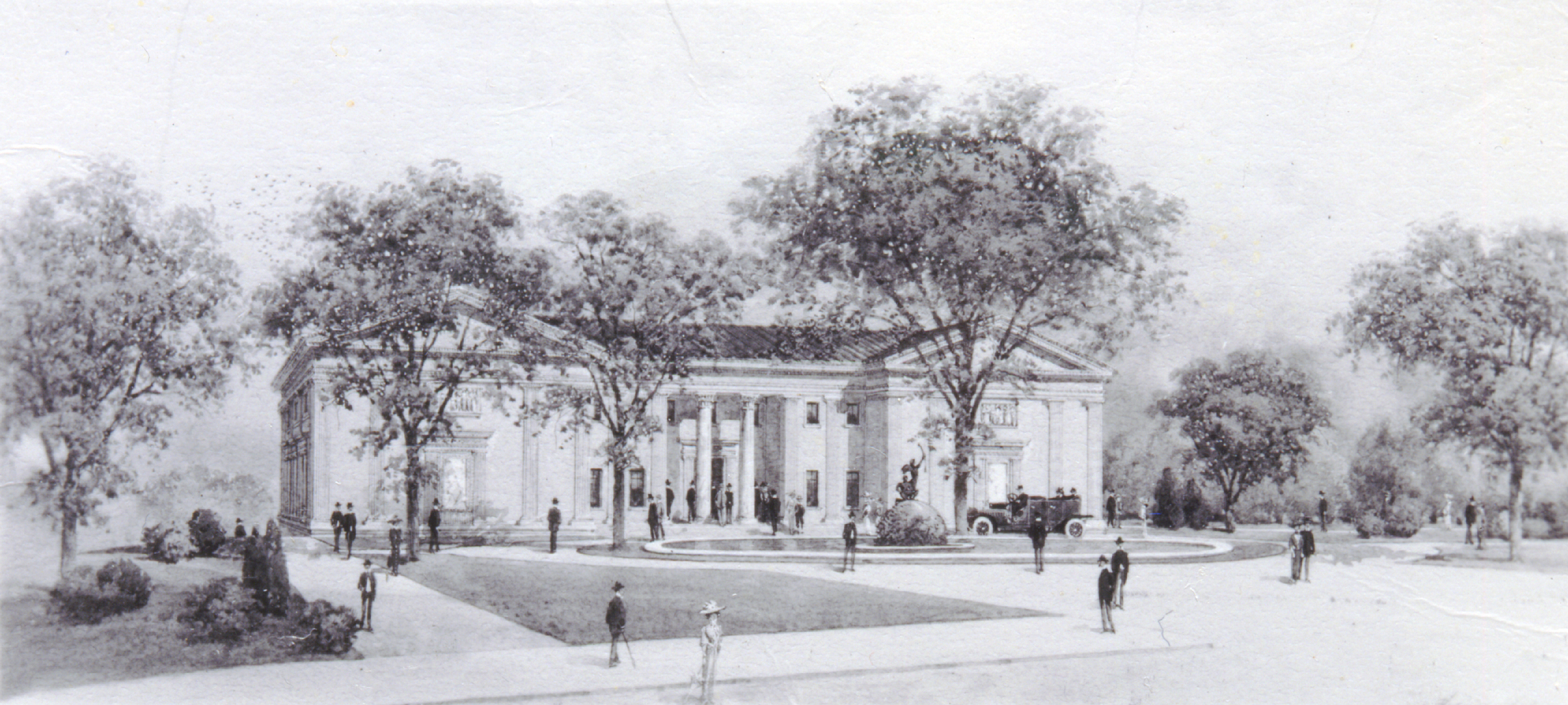 Architect's rendering of MAM from 1914