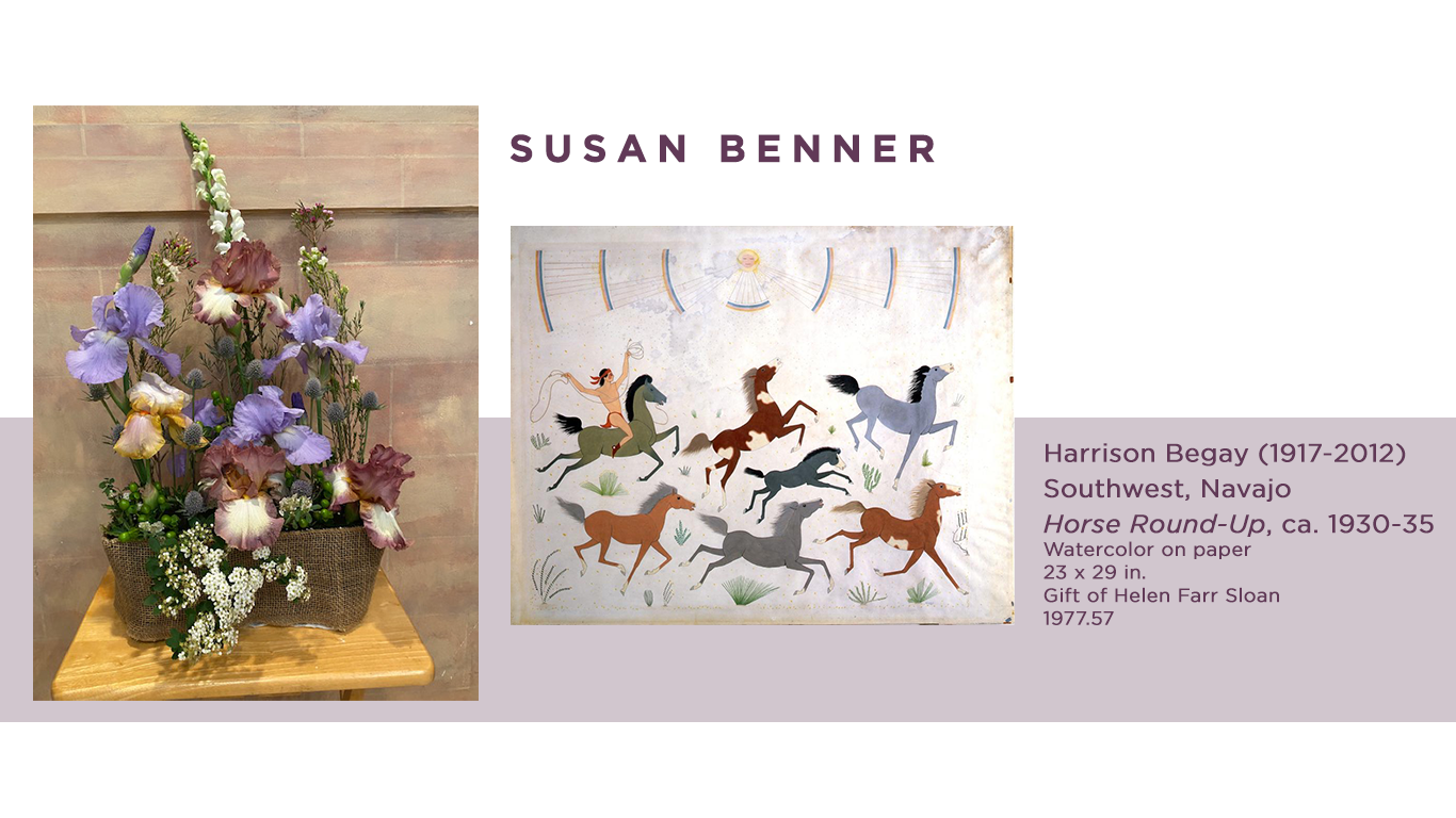 Susan Benner VIRTUAL ART IN BLOOM floral design