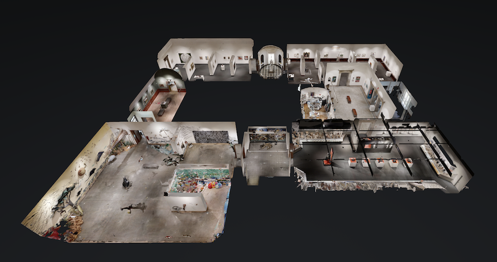 Above floorplan view of Montclair Art Museum via matterport.