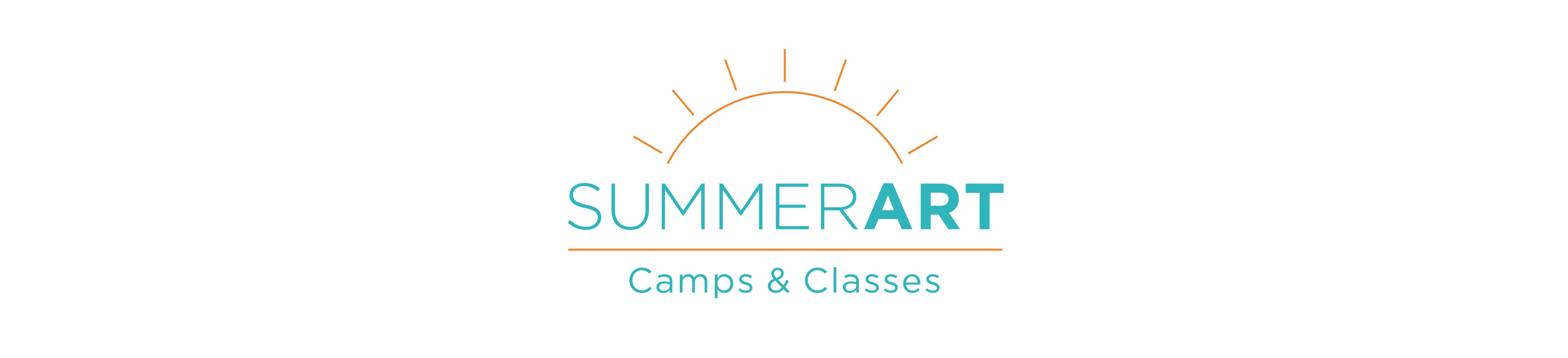 Summer Art logo type with a simple sun above