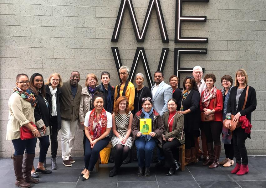 The Museum's African American Cultural Committee in a group photo on an excursion to Harlem.