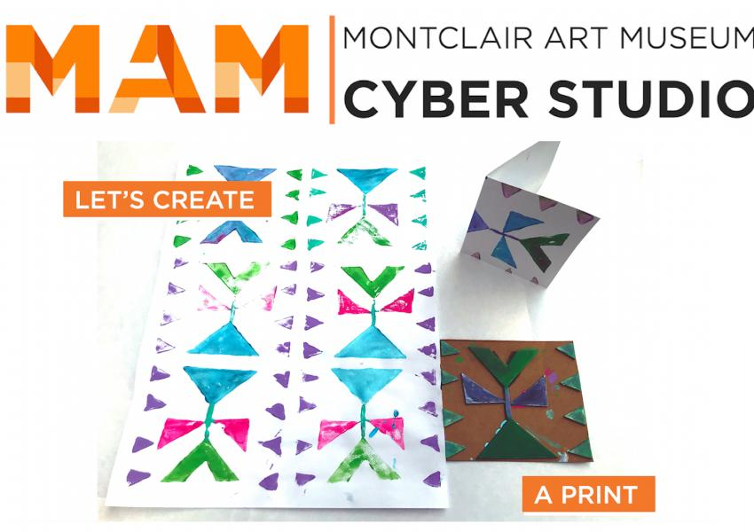 a screenshot from the Cyber Studio: Printmaking video