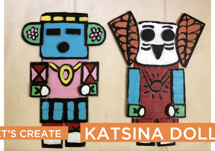 I'm an image! A screen grab from the Cyber Studio video about creating your own katsina dolls.