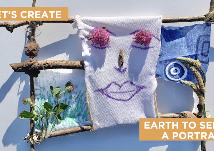 "A screen shot from the cyber studio video that says ""let's create earth to self: a portrait"""