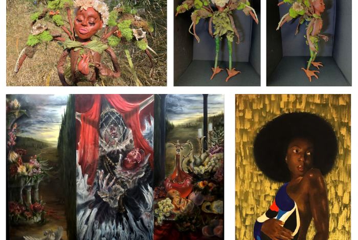 A COLLAGE OF ARTWORKS BY WINNERS OF THE NORTHERN NJ SCHOLASTIC ART AWARDS